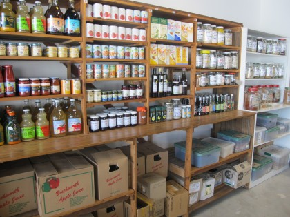 Co-op herbs, teas and canned goods