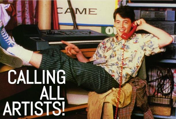 Ferris Bueller Calling All Artists_Canberra Food Coop Art Contest 2015